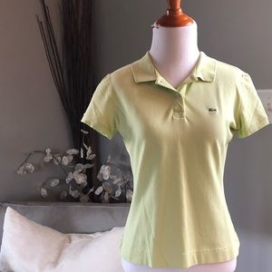 Lacoste keylime colored polo.